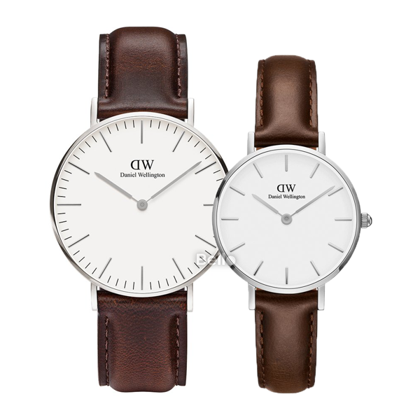 Daniel Wellington Bristol Silver Couple 36-28