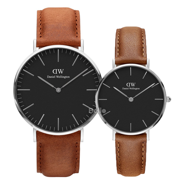 Daniel Wellington Black Durham Silver Couple 40-32