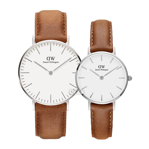 Daniel Wellington Durham Silver Couple 36-28