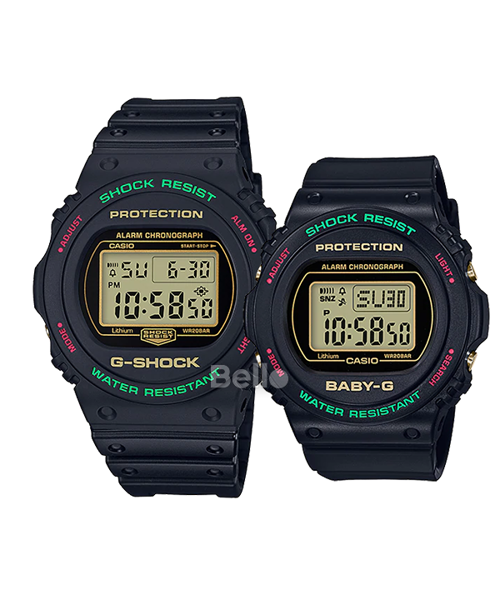 G-Shock Đôi DW-5700TH-1 & BGD-570TH-1