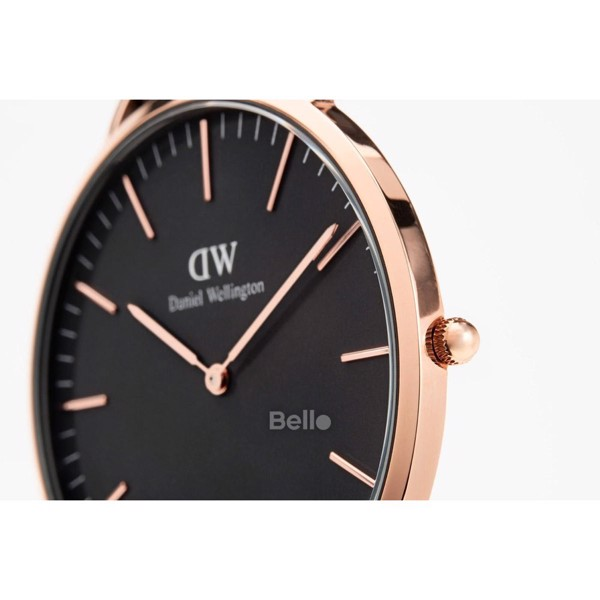 Classic Black St Mawes Rose Gold 40mm