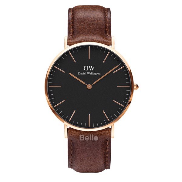 Daniel Wellington Black Bristol Rose Gold Couple 40-32