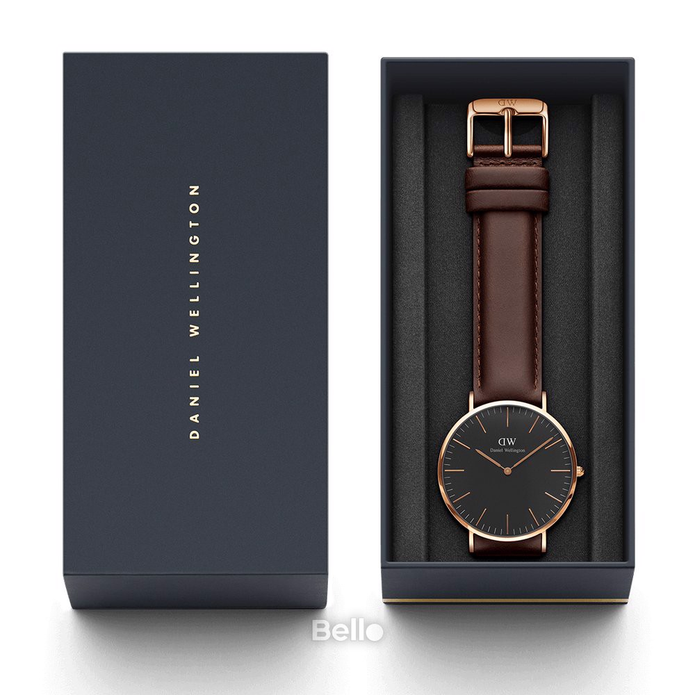 Classic Black Bristol Rose Gold 40mm