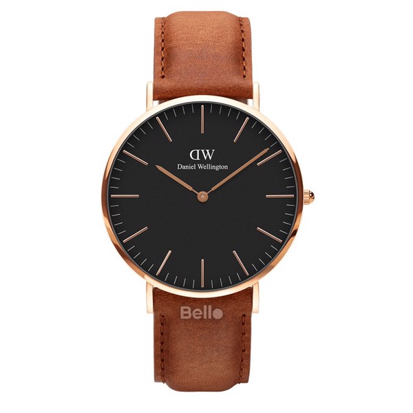 Daniel Wellington Black Durham Rose Gold Couple 40-32