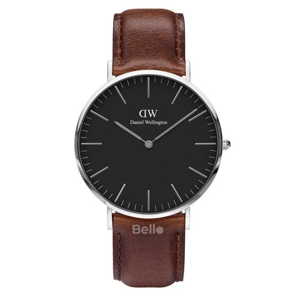 Daniel Wellington Black Bristol Silver Couple 40-32