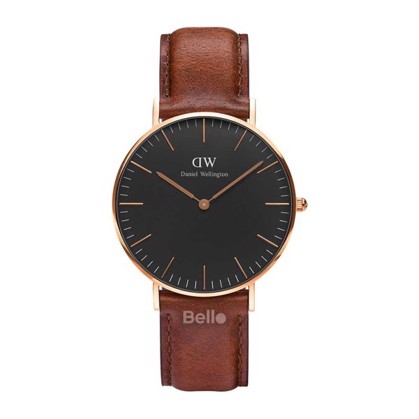 Classic Black St Mawes Rose Gold 36mm