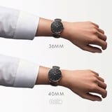 Daniel Wellington Black Bristol Rose Gold Couple 36-28