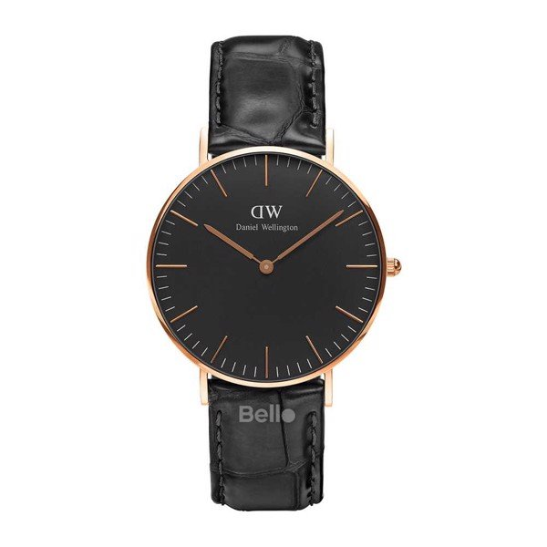 Classic Black Reading Rose Gold 36mm