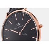 Classic Black Cornwall Rose Gold 36mm