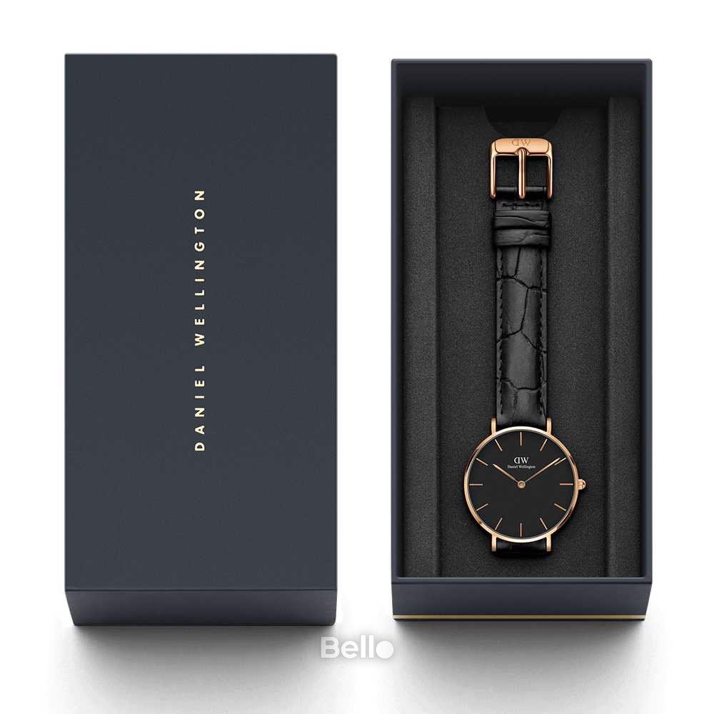 Daniel Wellington Black Reading Rose Gold Couple 40-32