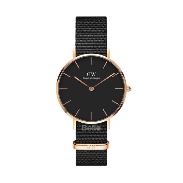 Classic Petite Cornwall Black Rose Gold 32mm