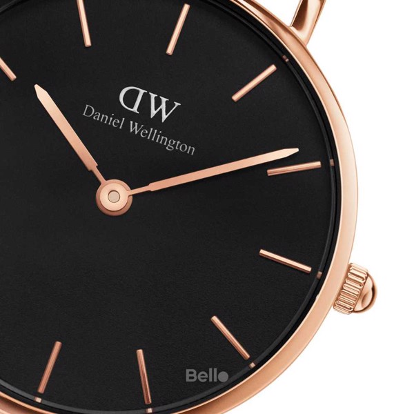Classic Petite Cornwall Black Rose Gold 28mm