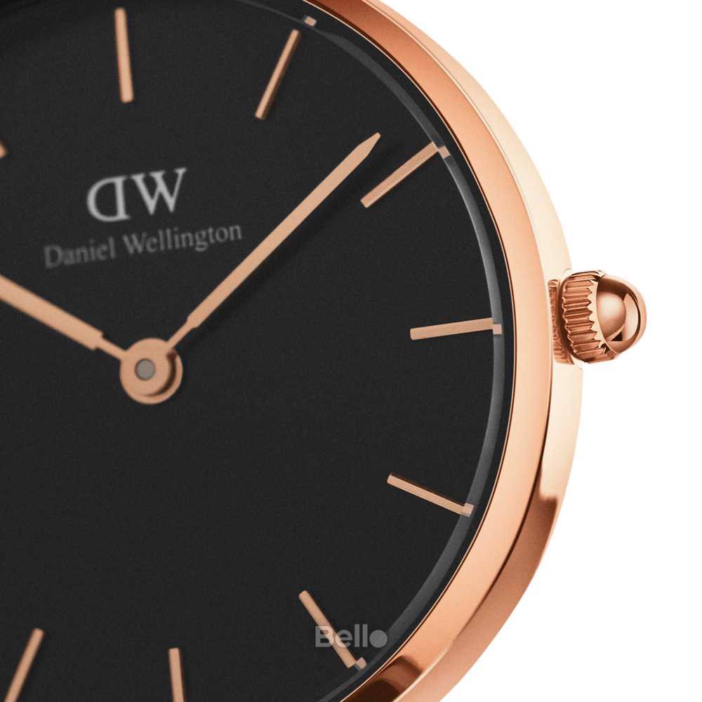 Daniel Wellington Black Cornwall Rose Gold Couple 36-28