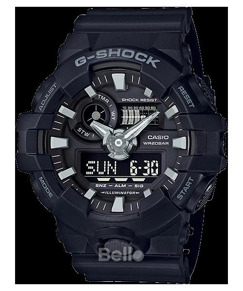GA-700-1B - Đồng hồ Casio G-Shock chính hãng Đen mờ Black Hawk
