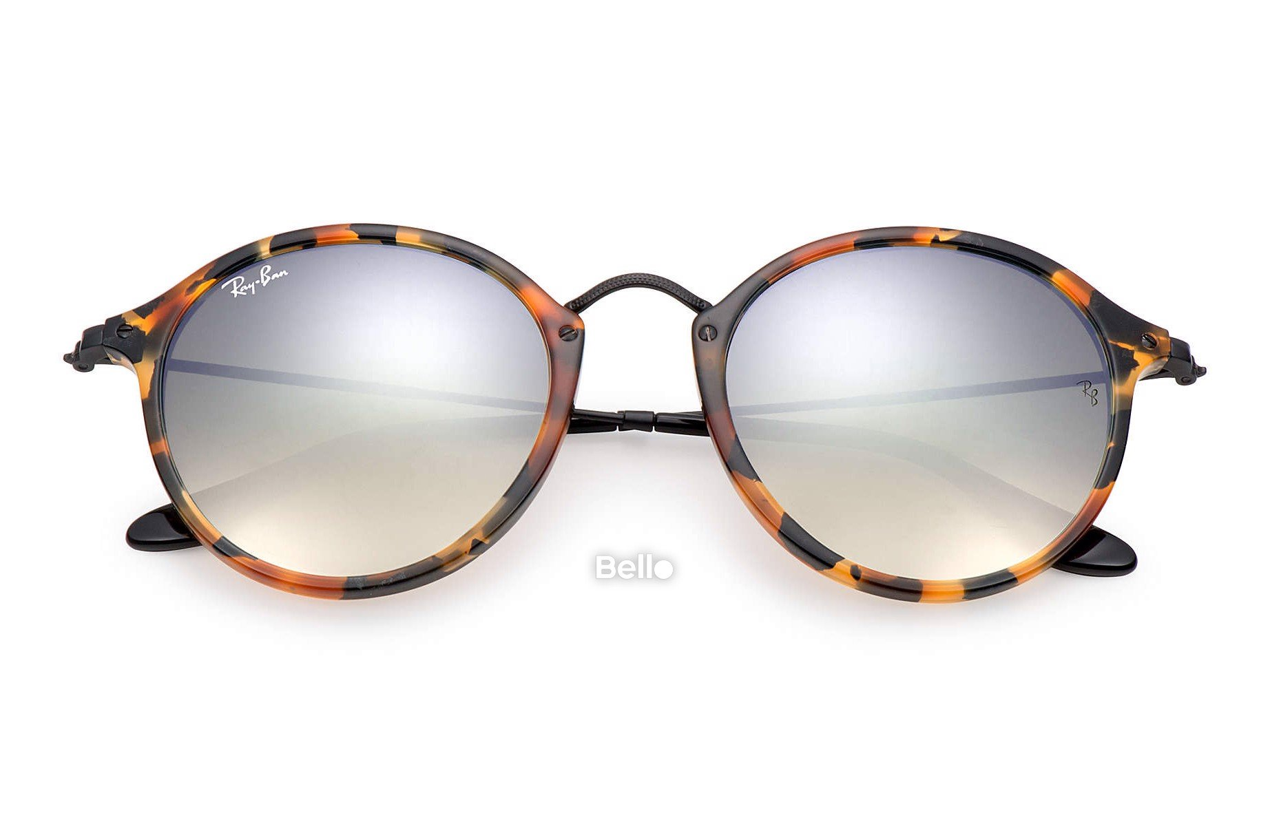 Ray-Ban Round Fleck Flash Lenses Gradient RB2447 1157/9U