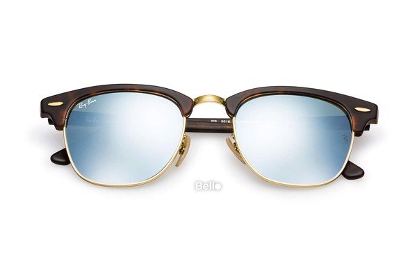 Ray-Ban Clubmaster Flash Lenses RB3016 1145/30 Size 55