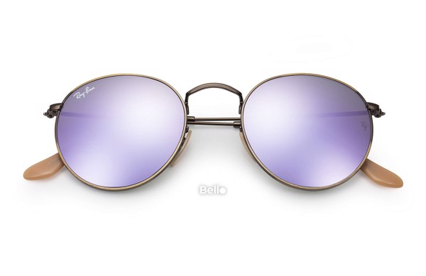 Ray-Ban Round Flash Lenses RB3447 167/4K