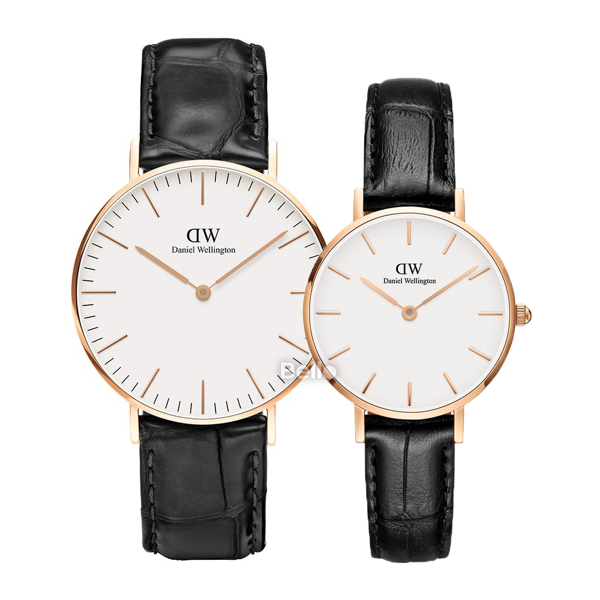 Daniel Wellington Reading Rose Gold Couple 36-28