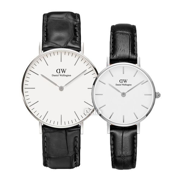 Daniel Wellington Reading Silver Couple 36-28
