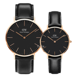 Daniel Wellington Black Sheffield Rose Gold Couple 40-32