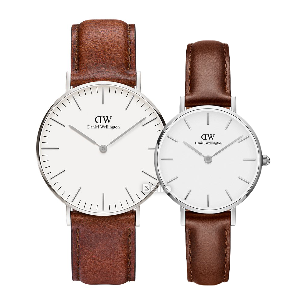Daniel Wellington St Mawes Silver Couple 36-28