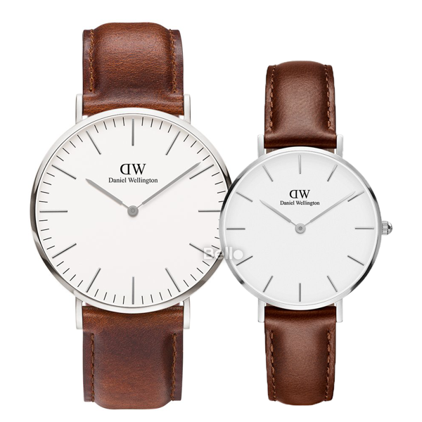 Daniel Wellington St Mawes Silver Couple 40-32