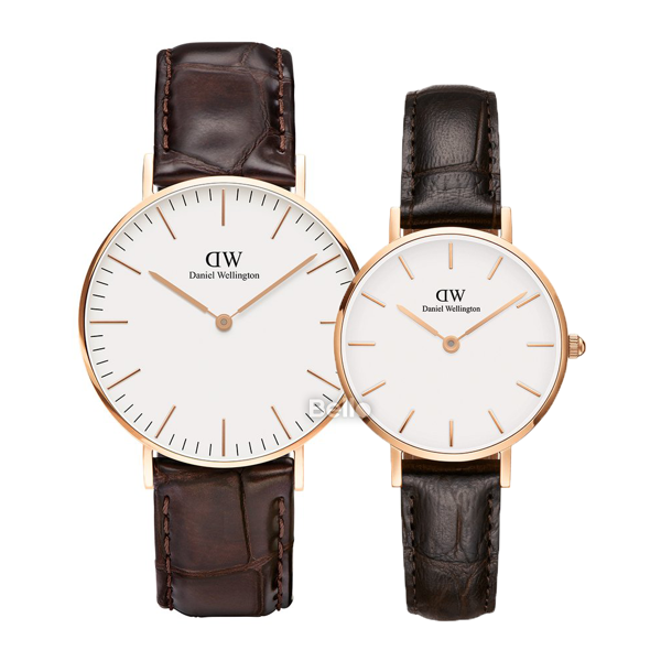 Daniel Wellington York Rose Gold Couple 36-28