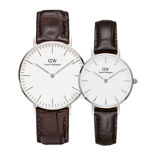 Daniel Wellington York Silver Couple 36-28