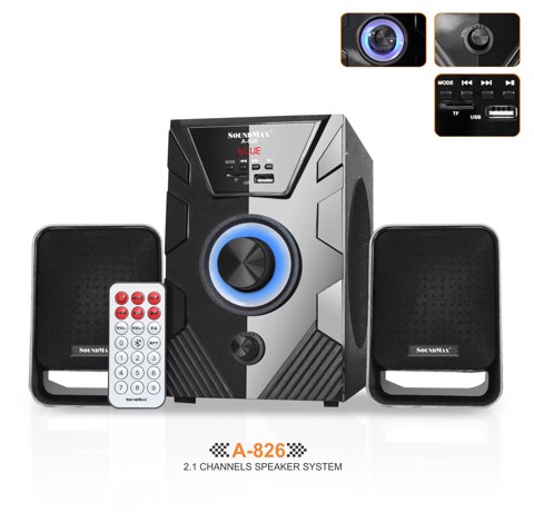 Loa bluetooth 2.1 SoundMAX A826 (Đen)