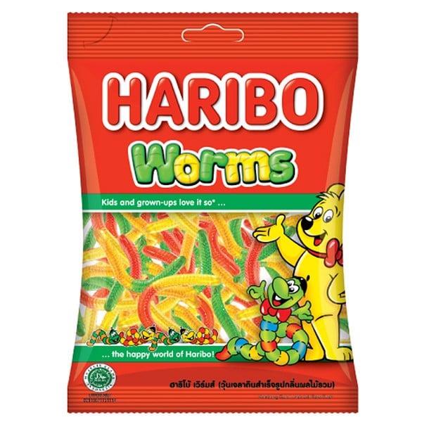 Kẹo Dẻo Haribo Worms 80g