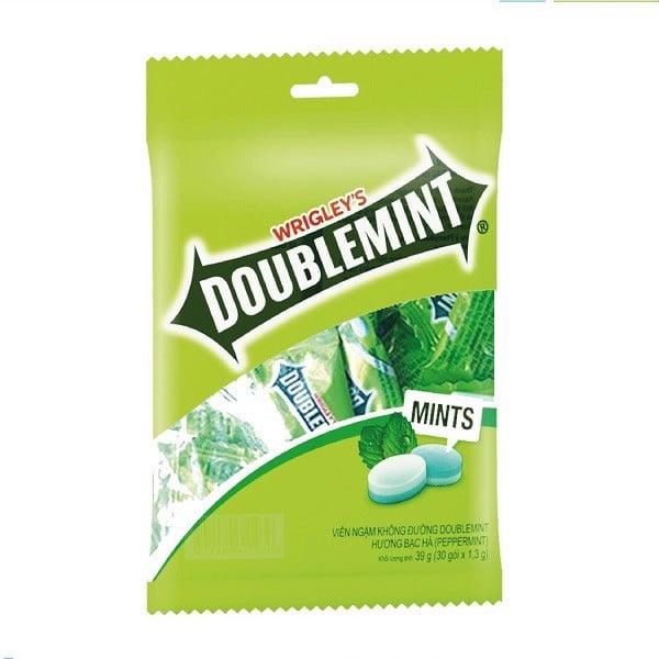 Kẹo Ngậm Doublemint Peppermint (Bạc Hà) Túi 30 Gói 2 Viên
