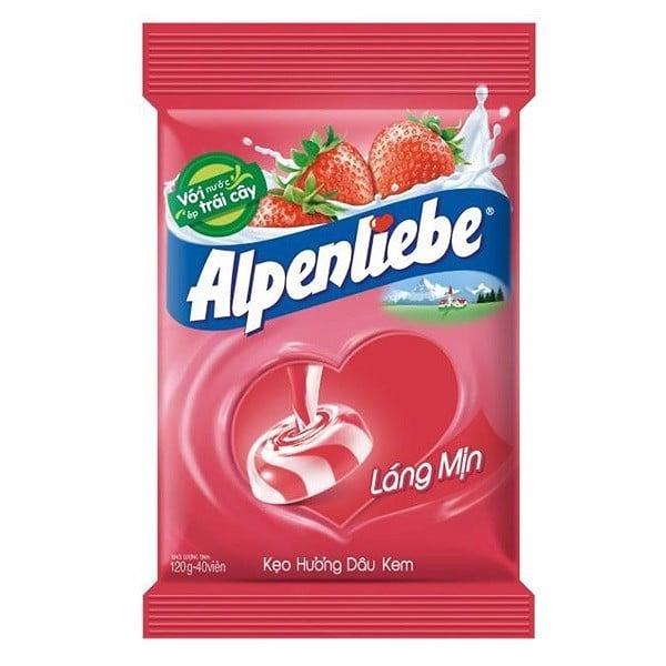 Kẹo Alpenliebe Strawberry Gói 40 Viên
