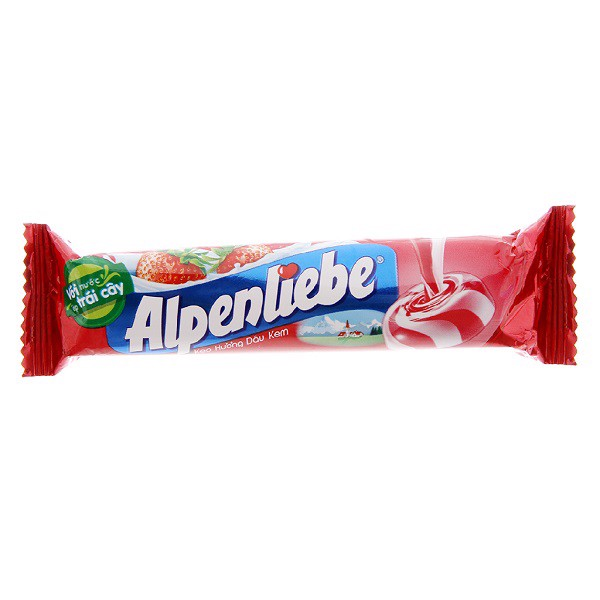 Kẹo Alpenliebe Strawberry Thỏi