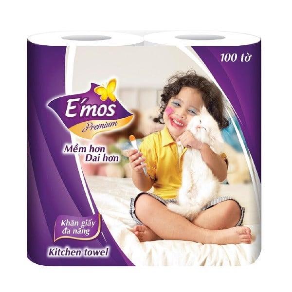 Giấy Đa Năng E'Mos Premium 2 Cuộn 2 Lớp