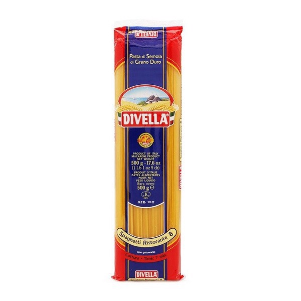 Mỳ Sợi Ý Divella Spaghettini Số 8