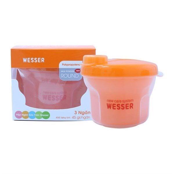 Hộp Ngăn Sữa Tròn Angel Wesser