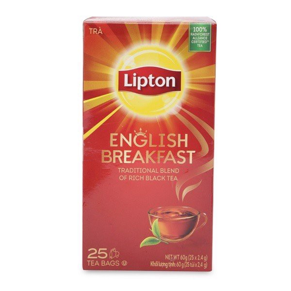 Trà Lipton English Breakfast 2.4g Hộp 25