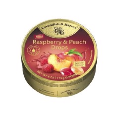 Kẹo Cavendish & Harvey Raspberry & Peach Drops Filled 175g