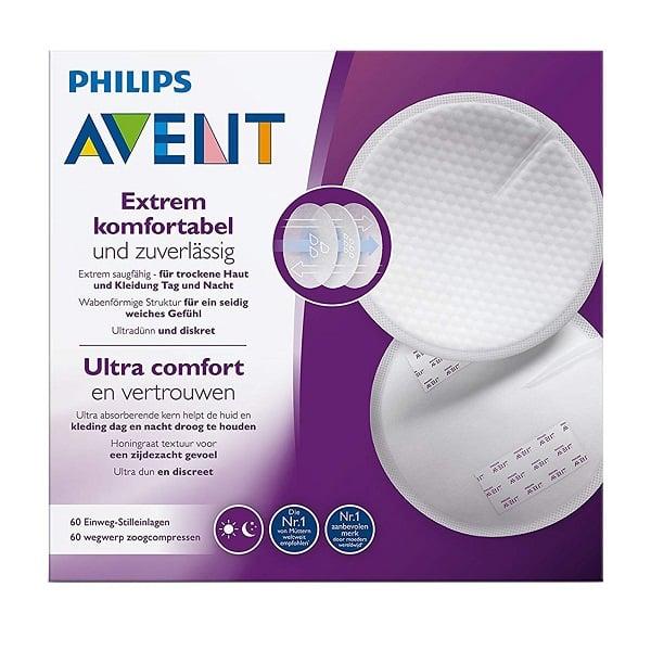 Miếng Lót Thấm Sữa Dùng 1 Lần Philips Avent (60 Miếng/Hộp) - SCF254.61
