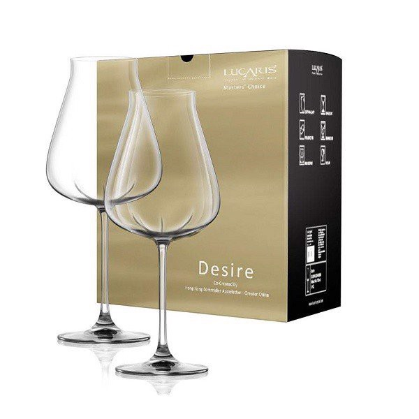 Bộ 2 Ly Pha Lê Desire Robust Red 700Ml