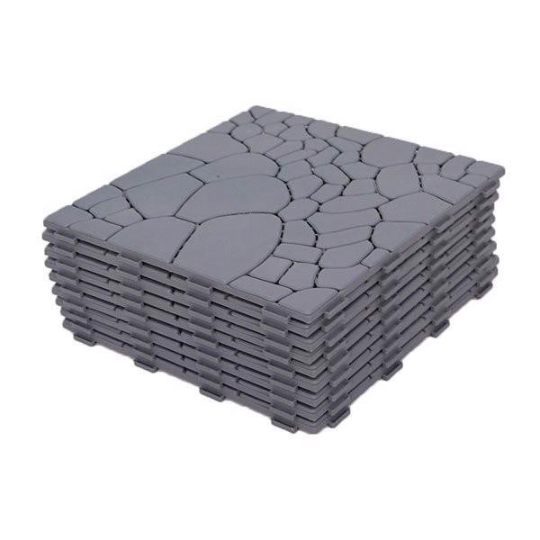 Vỉ Nhựa Lót Sàn Hoa Văn 30x30x0.14cm (Catleza)