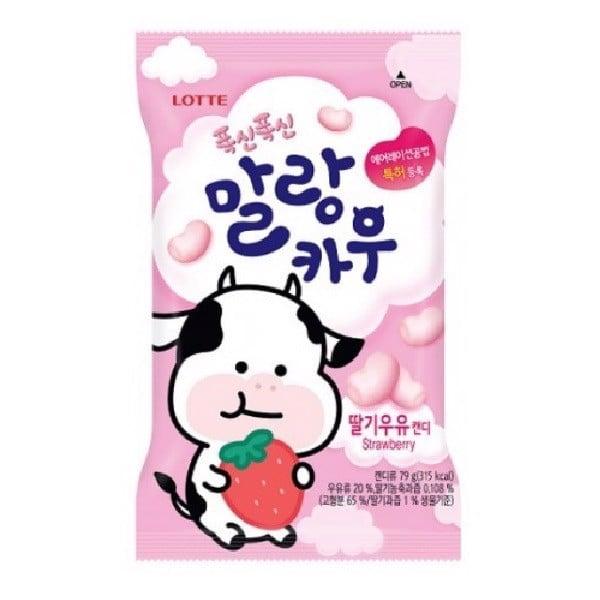 Kẹo Mềm Sữa Bò Vị Dâu Malang Cow Strawberry 79g