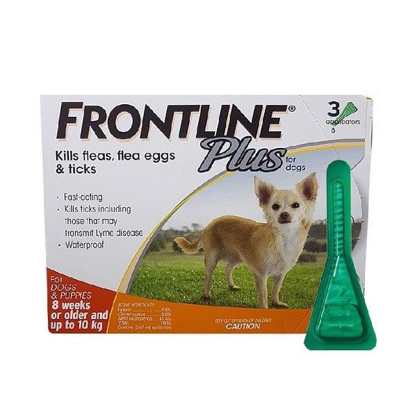 Thuốc Nhỏ Gáy Trị Ve, Rận Cho Chó Frontline Plus Dog 0.67ml 3 Tuýp