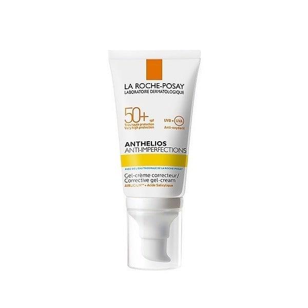 Kem Chống Nắng Dành Cho Da Bóng Dầu, Dễ Nổi Mụn La Roche-Posay Anthelios Anti-Imperfections Corrective Gel-Cream SPF 50+ UVB + UVA 50ml