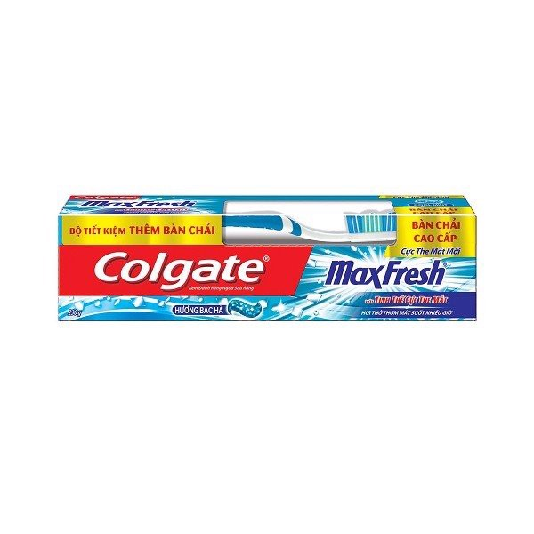 Kem Đánh Răng Colgate Maxfresh Bạc Hà 230g + Bàn Chải