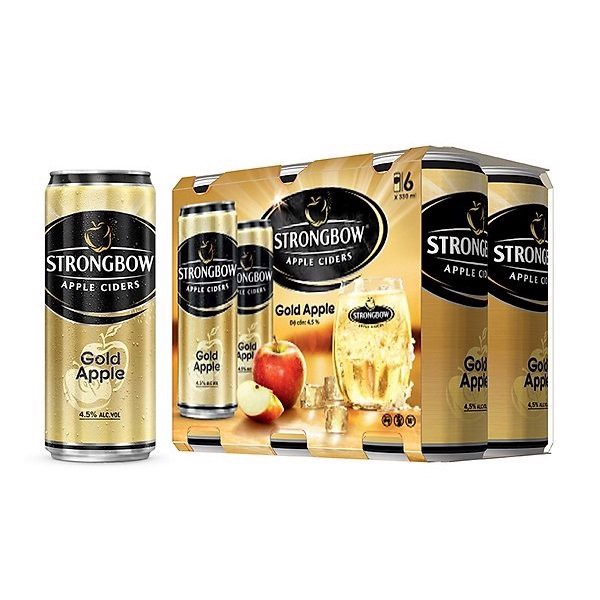 Nước Táo Lên Men Strongbow Gold Apple 330ml Lốc 6 Lon