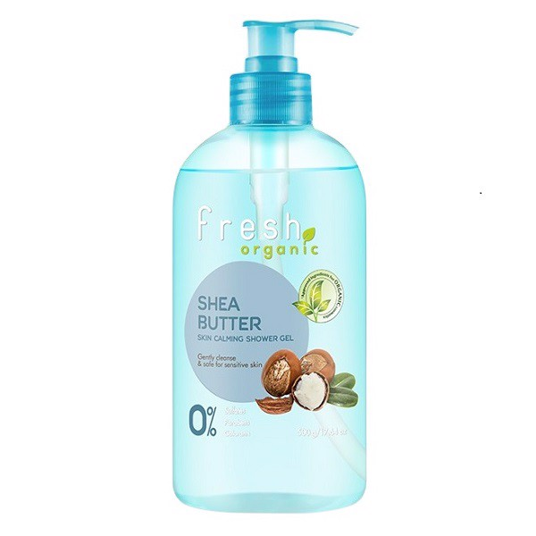 Sữa Tắm Fresh Organic Shea Butter Skin Calming Shower Gel 500g