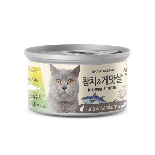 Pate Cá Ngừ Trắng & Cua Cho Mèo Meowow 80g