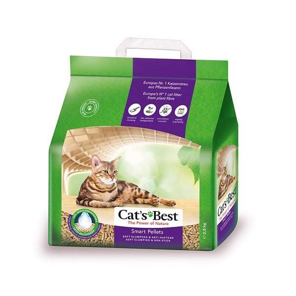 Cát Vệ Sinh Mèo Hữu Cơ Vón Cục Smart Pellets Cat's Best 5kg