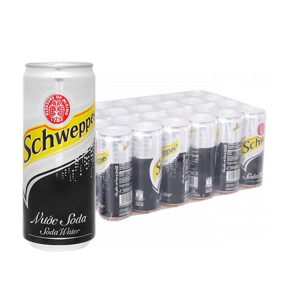 Thùng 24 Soda Schweppes Sleek 330ml